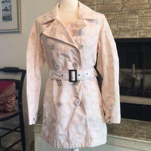 Merona polka dot trench coat